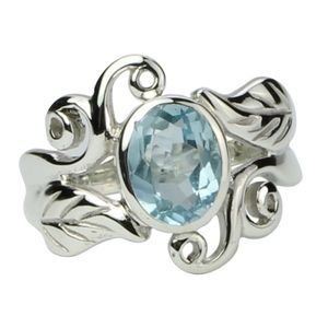 Jewelry - Sterling Silver Blue Topaz Ring Size 7